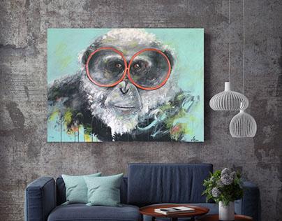 Let Me See - Peinture acrylique sur toile galerie