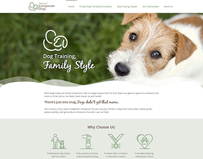 Ann Becnel Companion Dogs Website Redesign