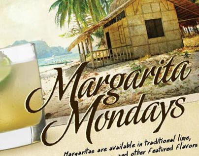 Margarita Mondays Menu