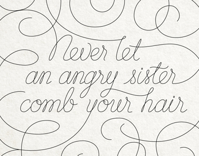 Angry Sister – Custom Lettering