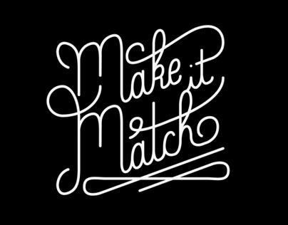 """Make It Match"" custom clothing brand_school assignment"