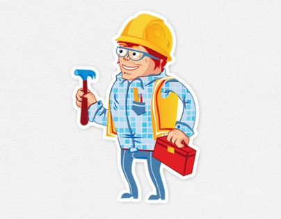 Brand hero - an electrician - 3 characters