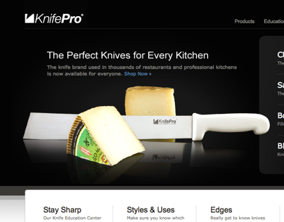 KnifePro site design