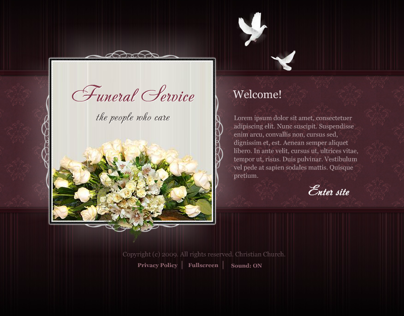 Funeral Service Dynamic Flash Template