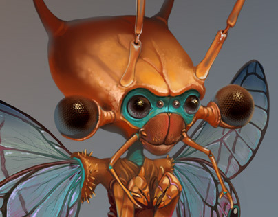 Cute insect aliens