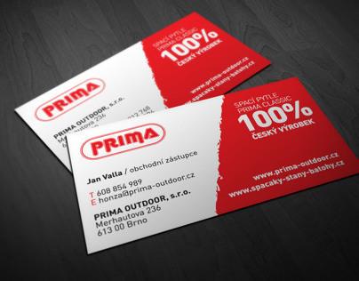 business card PRIMA OUTDOOR