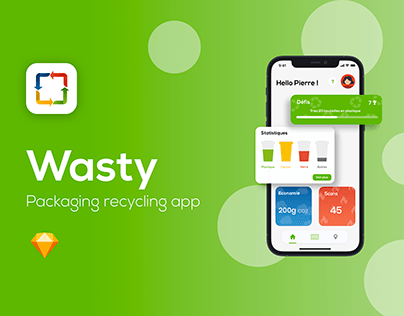 Wasty - Recycling Apps - Sketch UX/UI