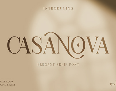 Casanova Serif Display Free Font