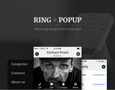 Ring & Popup App Design