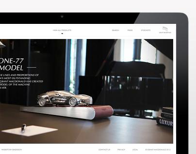 Aston Martin Silver E-commerce Website