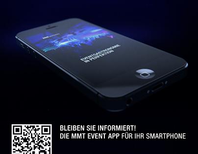 MMT Event Newsfeed App Werbung