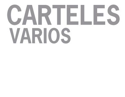 CARTELES Y FOLLETOS VARIOS