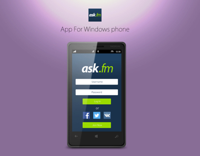 Ask.fm app For Windows Phone