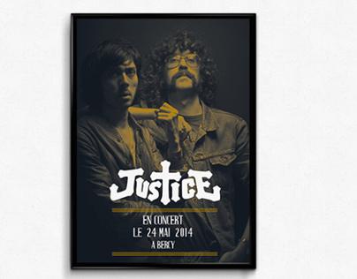 Affiche Justice bichromie