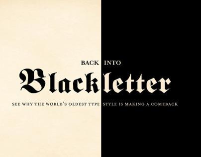 Back Into Blackletter Typography Catalog