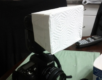 DIY Flash Softbox Out of a DQ Fries Container