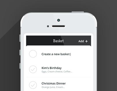 Grocery Shopping App 'Basket'