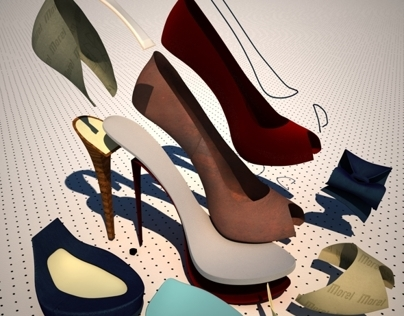 Shoe Exploded View for Web site graphics