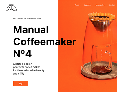 Landing page for Coffemaker
