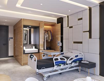 3D Hospital Room Interior 3D Scene Model