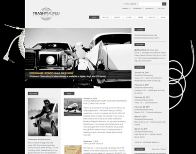 Trashy Moped / Ghostland Observatory - website