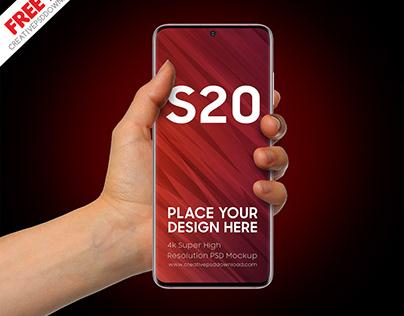 Samsung Galaxy S20 Psd Mockup
