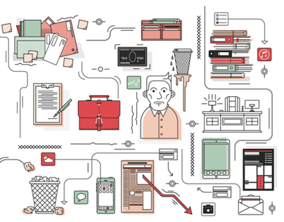 Outlined Editorial illustrations