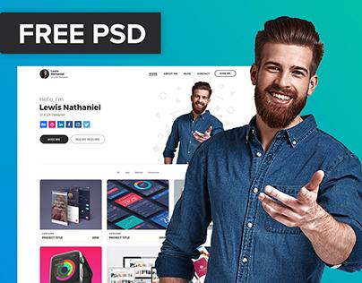FREE PSD & XD DESIGNER PORTFOLIO TEMPLATE