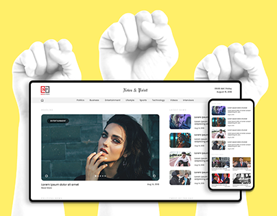 News Website Responsive | Minimal UI UX