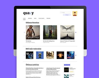 quavy. web (re)design