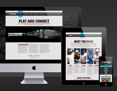 Babolat Lets Play Responsive Website