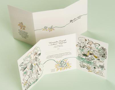 Wedding invitation for Weronika&Lukasz