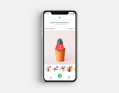 100 Weekdays Of UI - Day 004 - Watering App