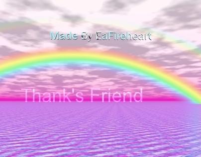 Fantasy Rainbow Pic Message