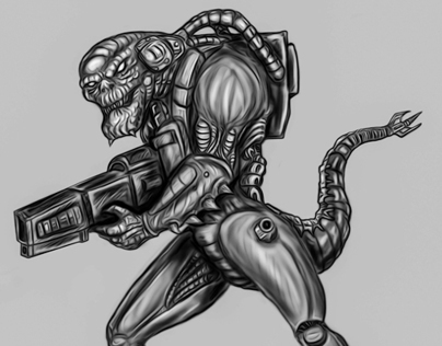 Cybernetic Reptilian Warrior