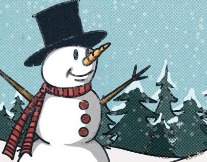 Snowman Christmas Card 2013