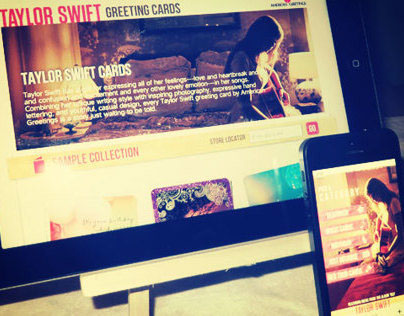 Taylor Swift Greeting Cards Mobile & Web