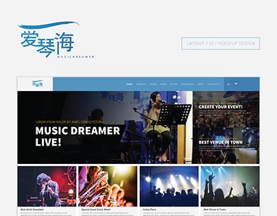 Music Dreamer - Web Design