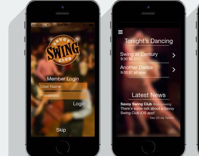 Savoy Swing Club iPhone App