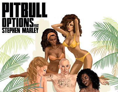 "Pitbull ""Options"" Single Cover Illustration"