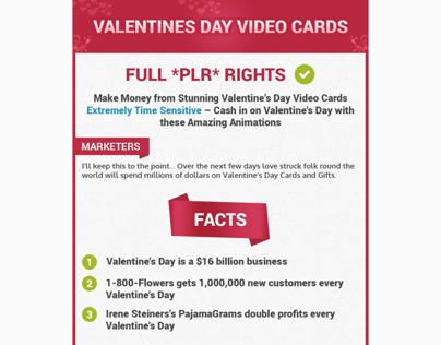 Valentines Sale Page Design