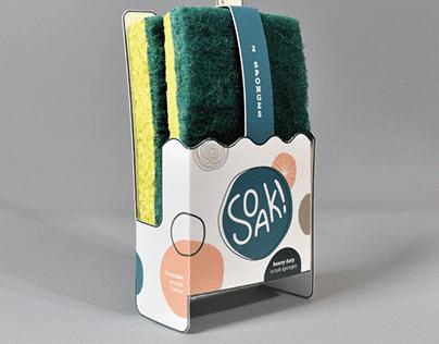 Soak! Sponge Packaging