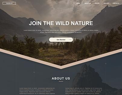Nature Web design inspiration