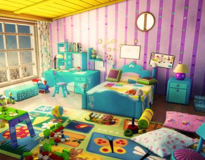 3d toon room