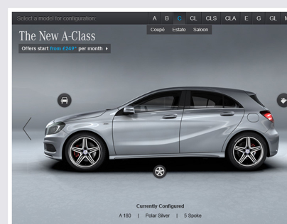 Mercedes-Benz UK Configurator Concept