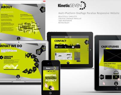 KINETIC SEVEN – OnePage Parallax Responsive Website
