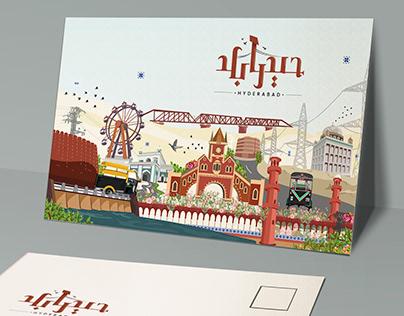 H Y D E R A B A D | City Illustration