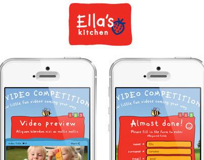 ELLA'S KITCHEN – Mobile APP - UX & Interaction Design
