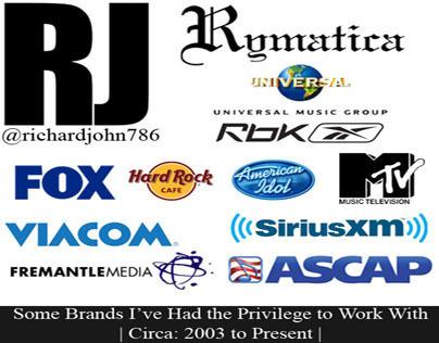 Major Brands I've Worked With via #Rymatica