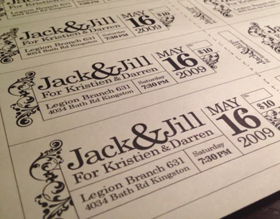Jack jill tickets on behance for Jack and jill ticket templates